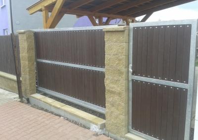 Brána vjezdová s brankou