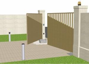 Pohony pro brány a vrata - křídlové brány a vrata